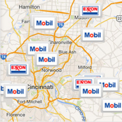 Find an Exxon and Mobil gas station near me